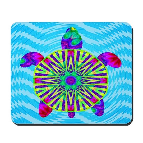 Colorful Sea Turtle Mousepad