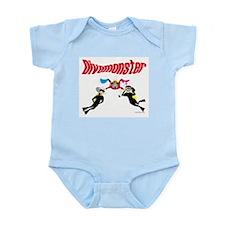Dive Monster Cartoon Infant Creeper