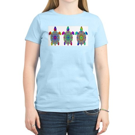 Colorful Sea Turtle Women's Light T-Shirt