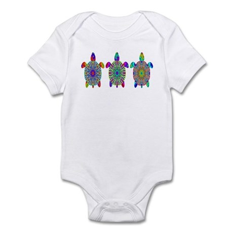 Colorful Sea Turtle Infant Bodysuit