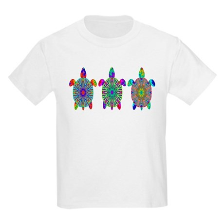 Colorful Sea Turtle Kids Light T-Shirt