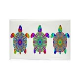 Colorful Sea Turtle Rectangle Magnet (100 pack)