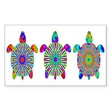 Colorful Sea Turtle Decal
