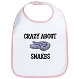 Crazy About Snakes Bib