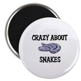 "Crazy About Snakes 2.25"" Magnet (10 pack)"