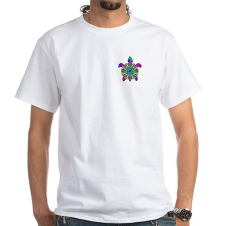 Colorful Sea Turtle White T-Shirt