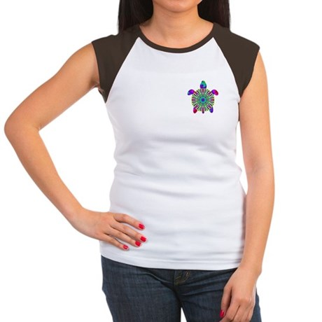 Colorful Sea Turtle Women's Cap Sleeve T-Shirt