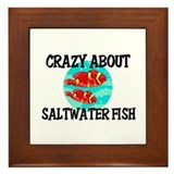 Crazy About Saltwater Fish Framed Tile