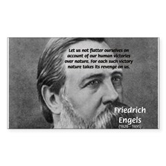 Nature versus Humanity: Engels Sticker (Rectangula