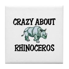 Crazy About Rhinoceros Tile Coaster