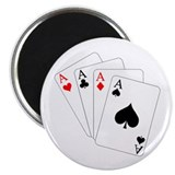 "4 Aces! 2.25"" Magnet (10 pack)"
