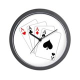 4 Aces! Wall Clock