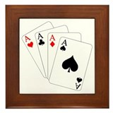 4 Aces! Framed Tile