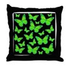 Bioluminescent Butterflies Throw Pillow