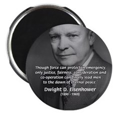 "Peace and Justice Eisenhower 2.25"" Magnet (10 pack"