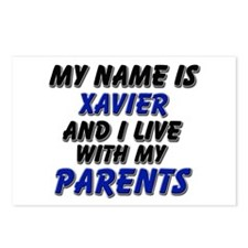 my name is xavier and I live with my parents Postc