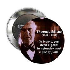 "Imagination Thomas Edison 2.25"" Button (100 pack)"