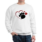 Dog Paw Print with Love Heart Sweater