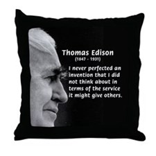 Inventor Thomas Edison Throw Pillow