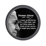 Inventor Thomas Edison Wall Clock
