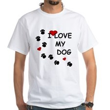 I Love my Dog Paw Prints Shirt