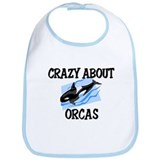 Crazy About Orcas Bib