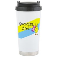 Geocaching Chick Ceramic Travel Mug