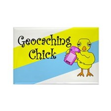 Geocaching Chick Rectangle Magnet