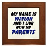my name is waylon and I live with my parents Frame