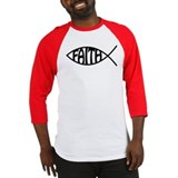 Jesus Christ Faith Fish Baseball Jersey