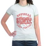 OFFICIAL SUMMER SOCIAL FOOD T Jr. Ringer T-Shirt