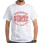 OFFICIAL SUMMER SOCIAL FOOD T White T-Shirt