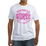 OFFICIAL SUMMER SOCIAL FOOD T Fitted T-Shirt