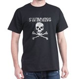 Swimming Pirate Black T-Shirt
