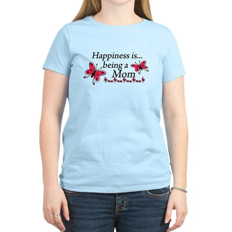 Happiness is Being a Mom Women's Light T-Shirt