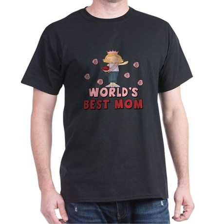 World's Best Mom Queen Dark T-Shirt
