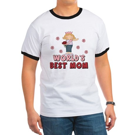 World's Best Mom Queen Ringer T