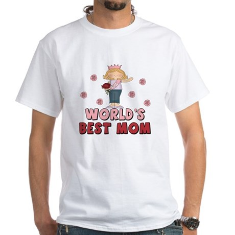World's Best Mom Queen White T-Shirt