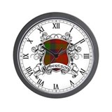 Robertson Tartan Shield Wall Clock