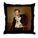 Lincoln / Scottie (w) Throw Pillow