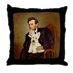 Lincoln / Scottie (w) Throw Pillow