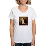 Lincoln / Scottie (w) Women's V-Neck T-Shirt