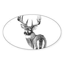 Deer Oval Sticker (10 pk)