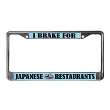 I Brake For Japanese Food License Frame