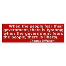 Tyranny / Liberty Bumper Bumper Sticker