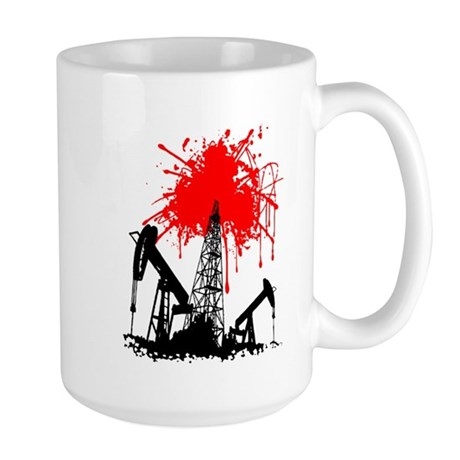 Oil of blood Large Mug