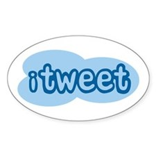iTweet (Twitter) Oval Decal