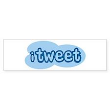 iTweet (Twitter) Bumper Sticker (10 pk)
