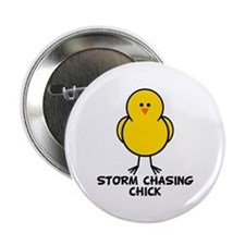 "Storm Chasing Chick 2.25"" Button"