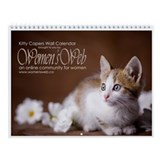 Women's Web Kitty Capers Wall Calendar